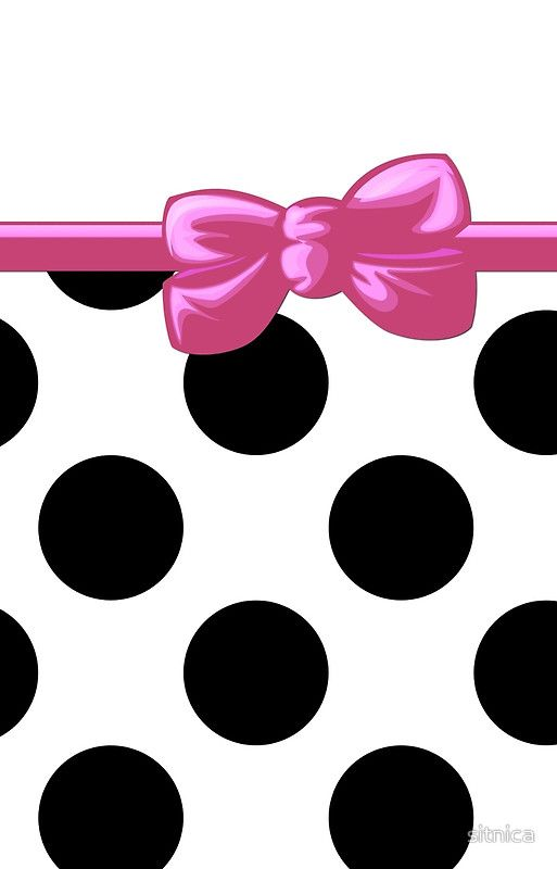 black and pink polka dot background polka dots ribbon and bow white ...