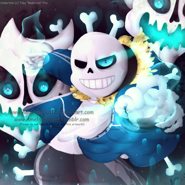 undertale Sans by Amel Genius17 600x600