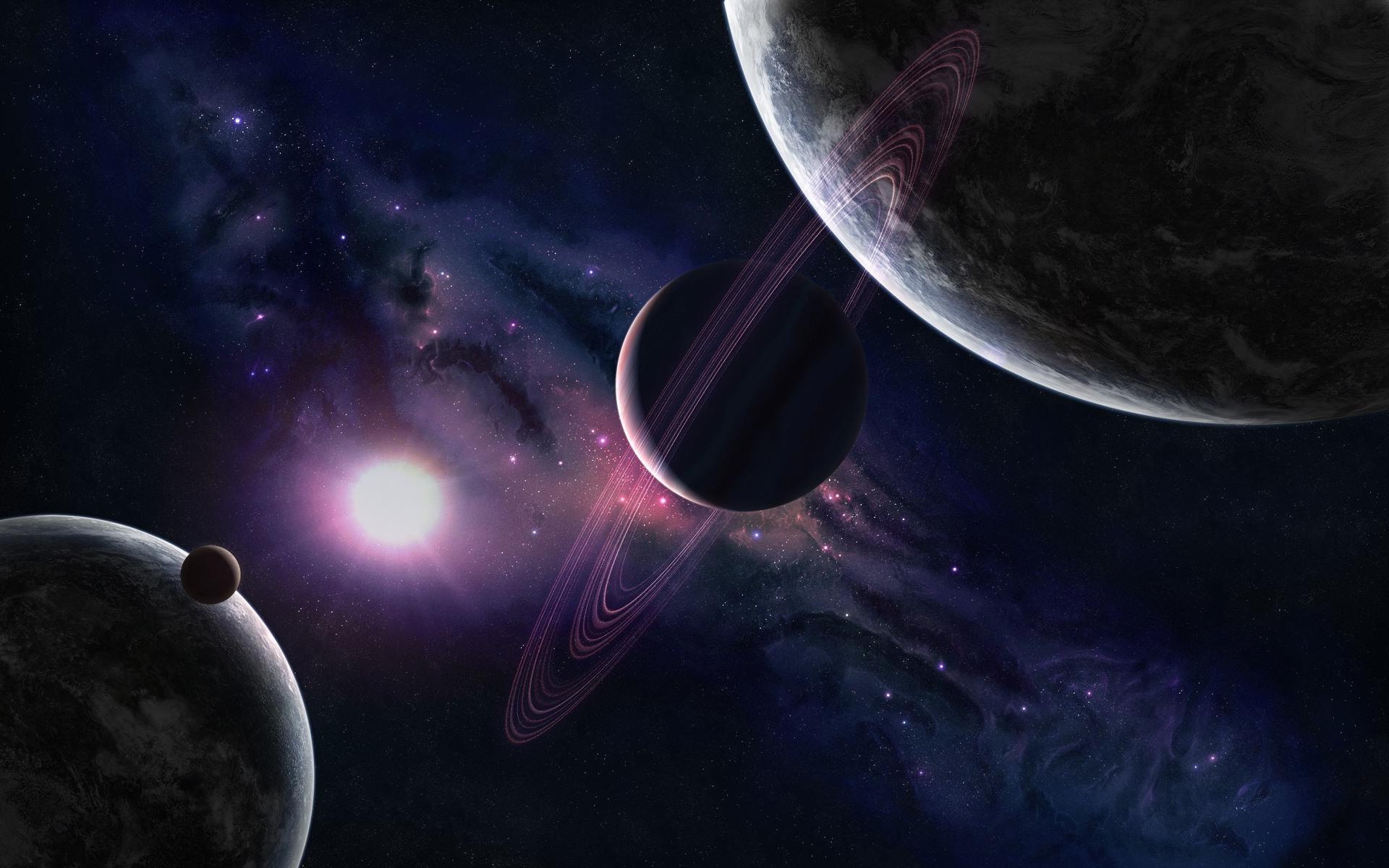 Ringed Planet desktop wallpaper 1920x1200