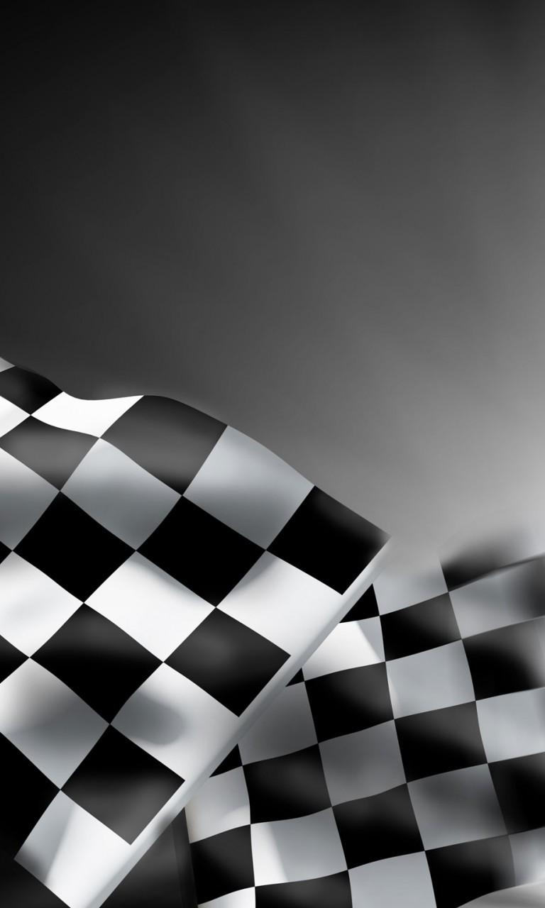 768x1280px Racing Checkered Flag Wallpaper Borders 768x1280