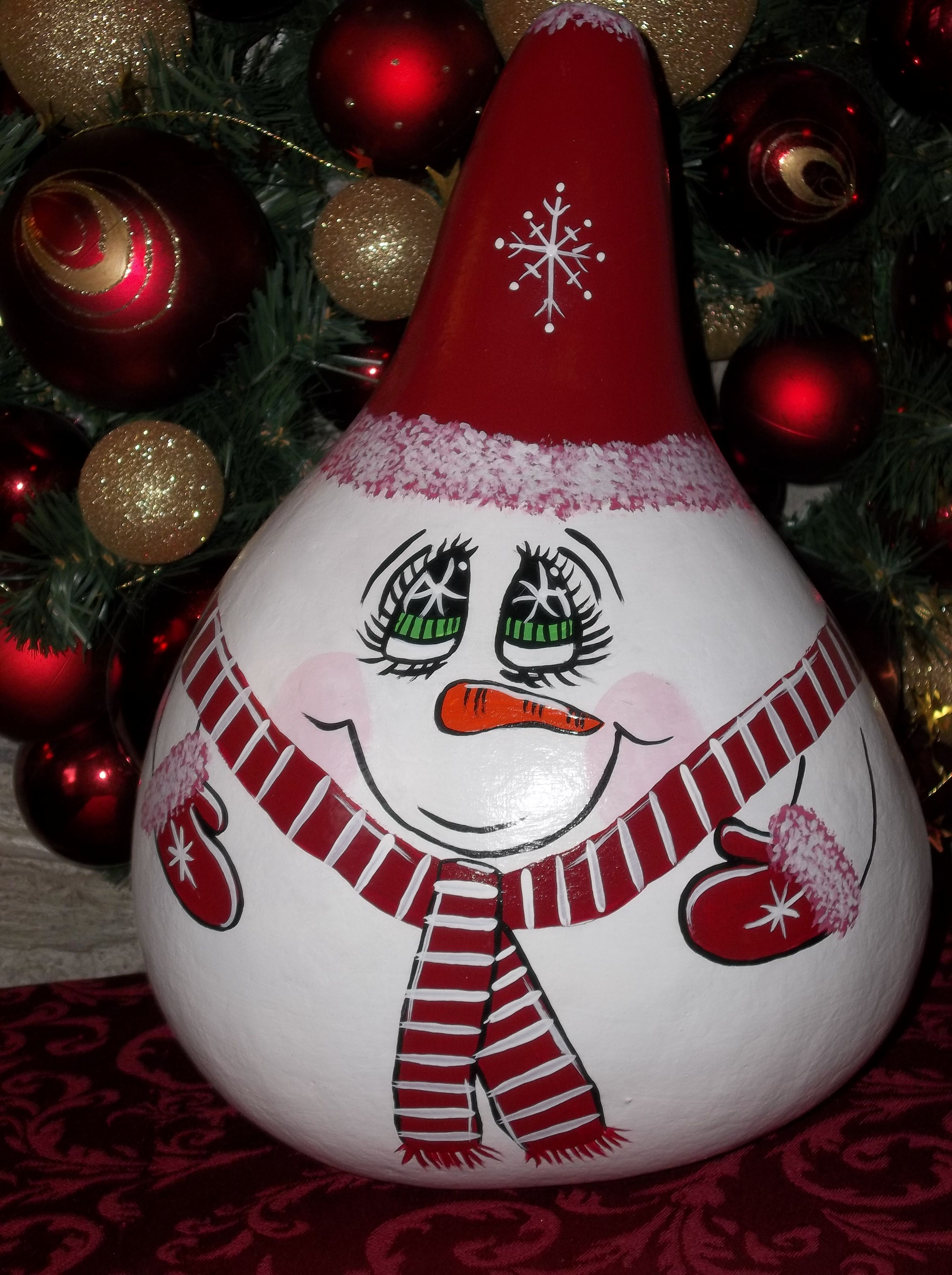 HandPaintedSnowmanGourds images of red snowman gourd 3440x4608