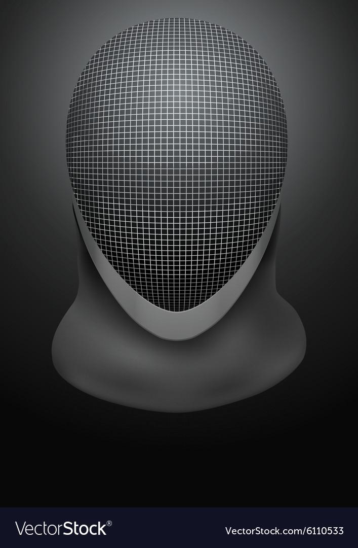 Dark Background of fencing helmet Royalty Vector Image 707x1080