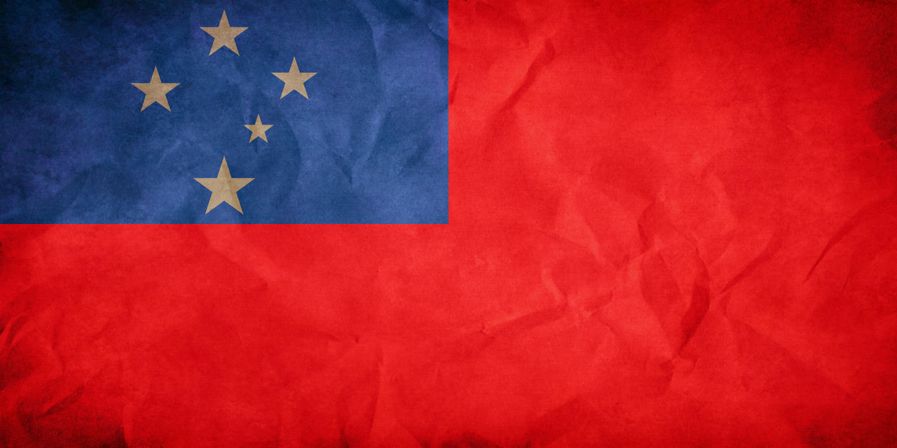 Samoa S Flag By Pilwe Customization Wallpaper Other No 1280x640