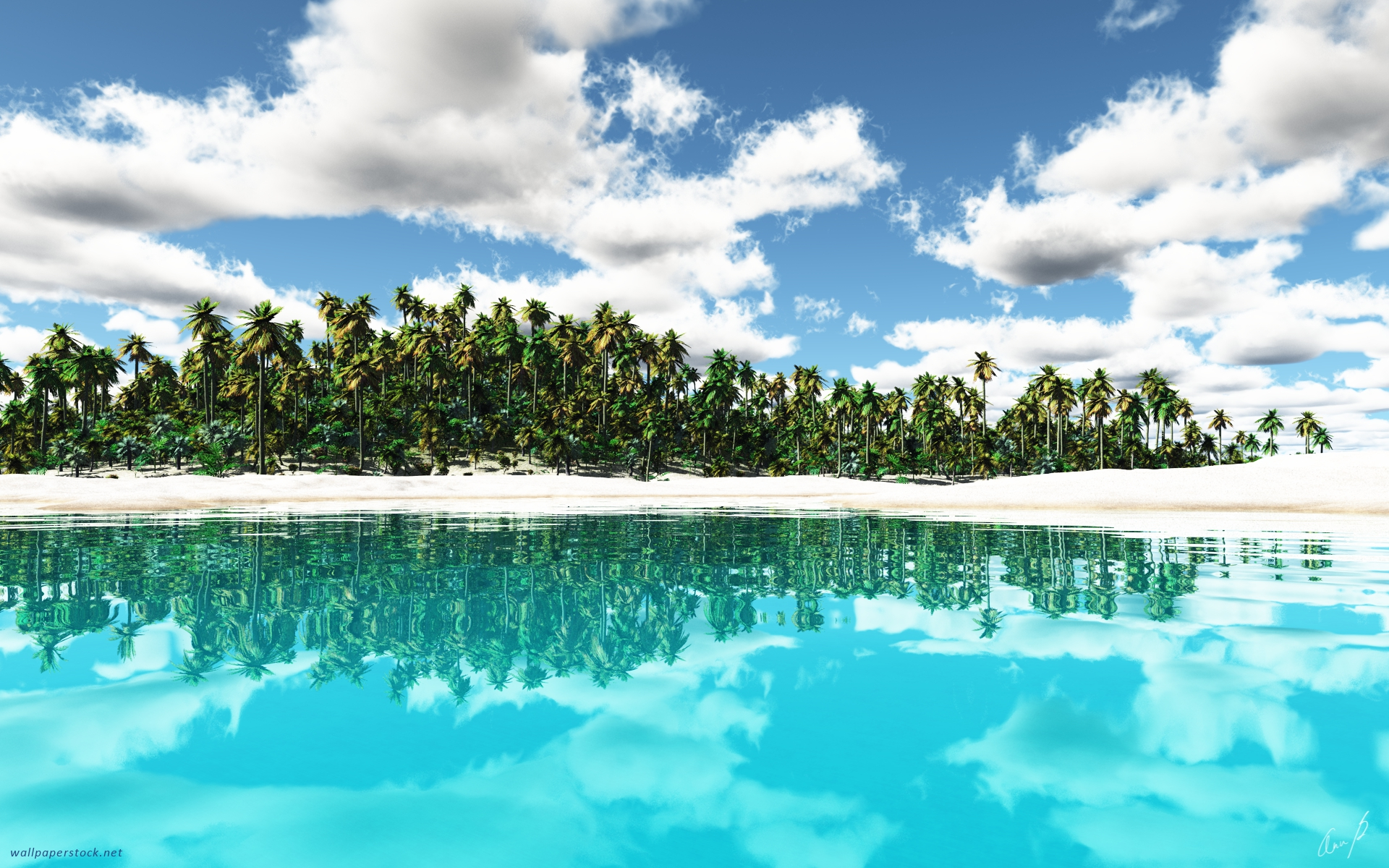 Tropical Island wallpaper - 856519