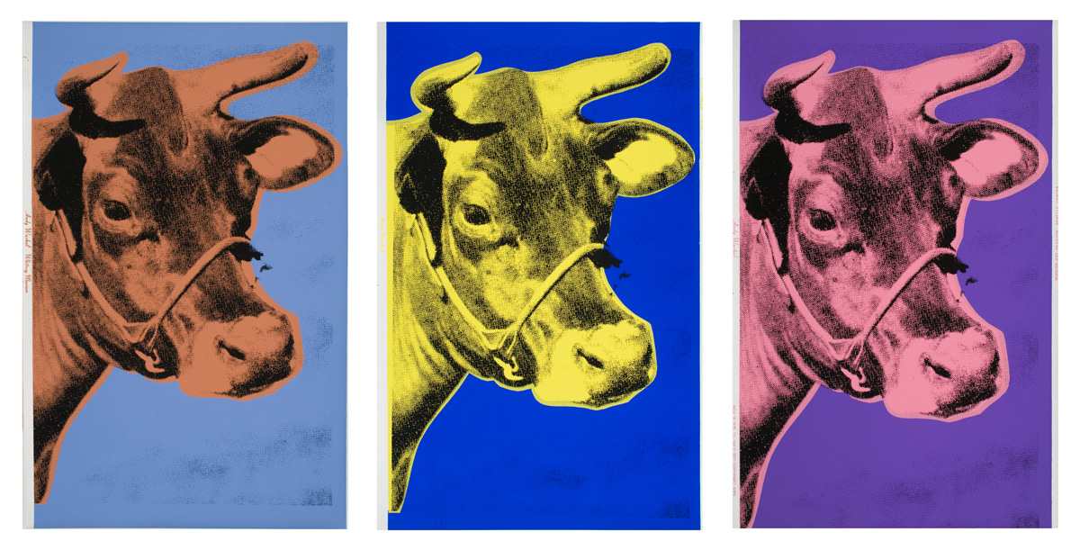 warhol with cows cow wallpaper andy warhol cow wallpaper 1200x611