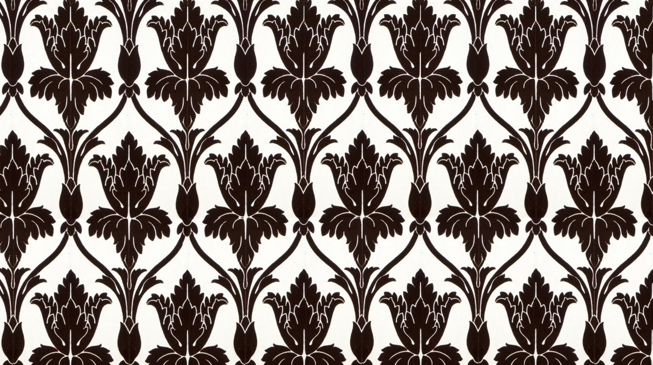Sherlock Wallpaper Pattern Stencil