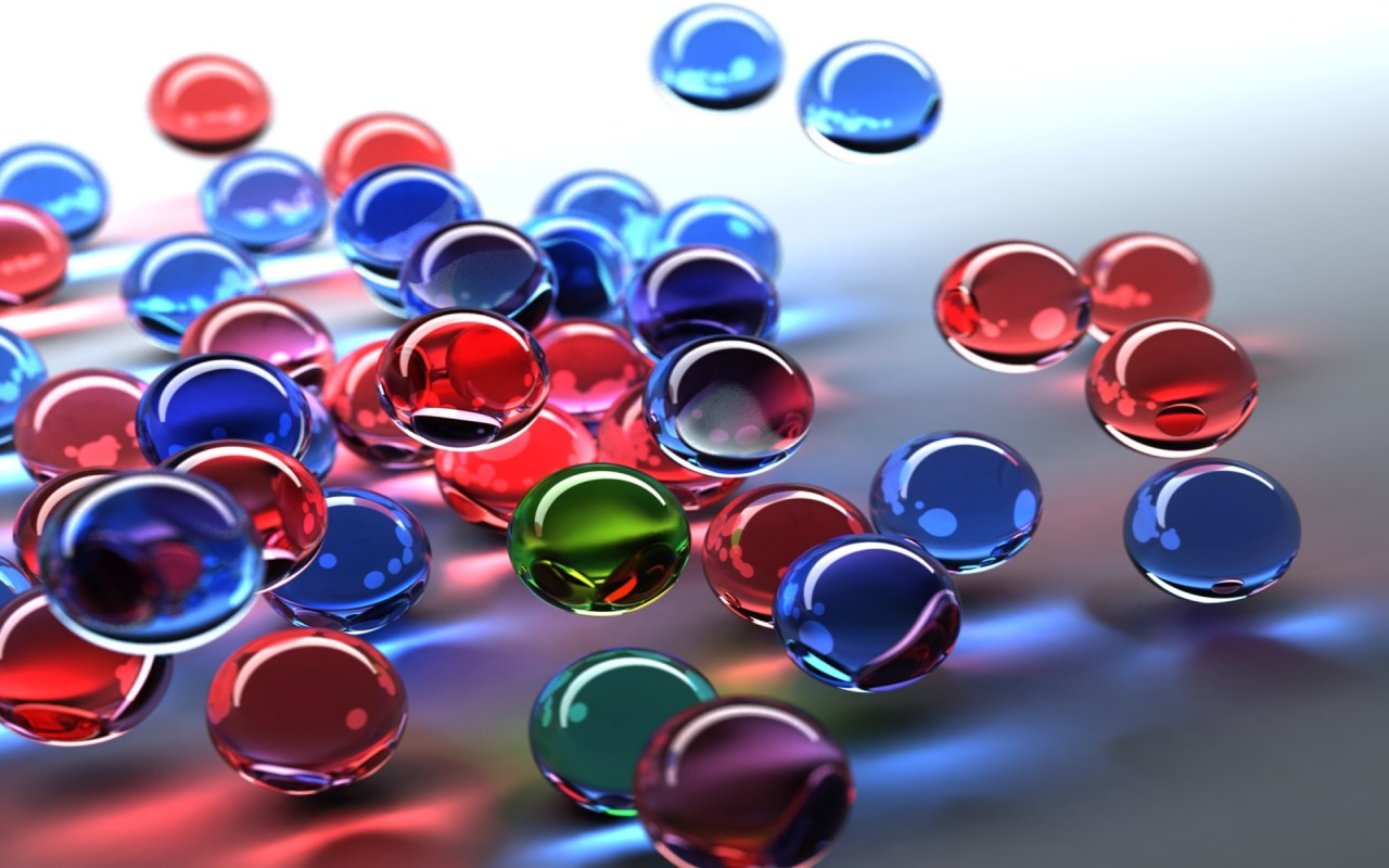 3D Bubbles Wallpaper Abstract 3D Wallpapers in jpg format for 1280x800