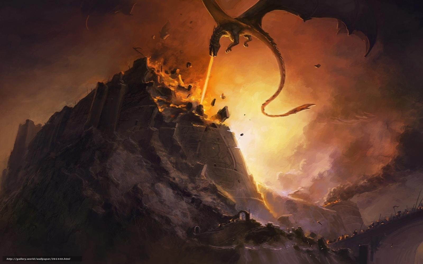 Download wallpaper Fall Nargotronda The Silmarillion JRR Tolkien 1600x1000