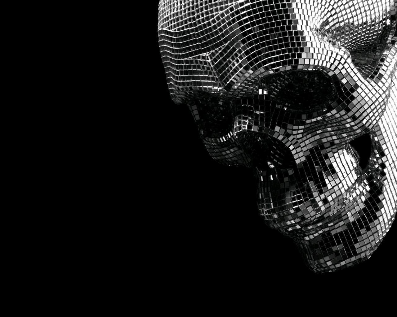 Disco Skull wallpaper 239556 1280x1024