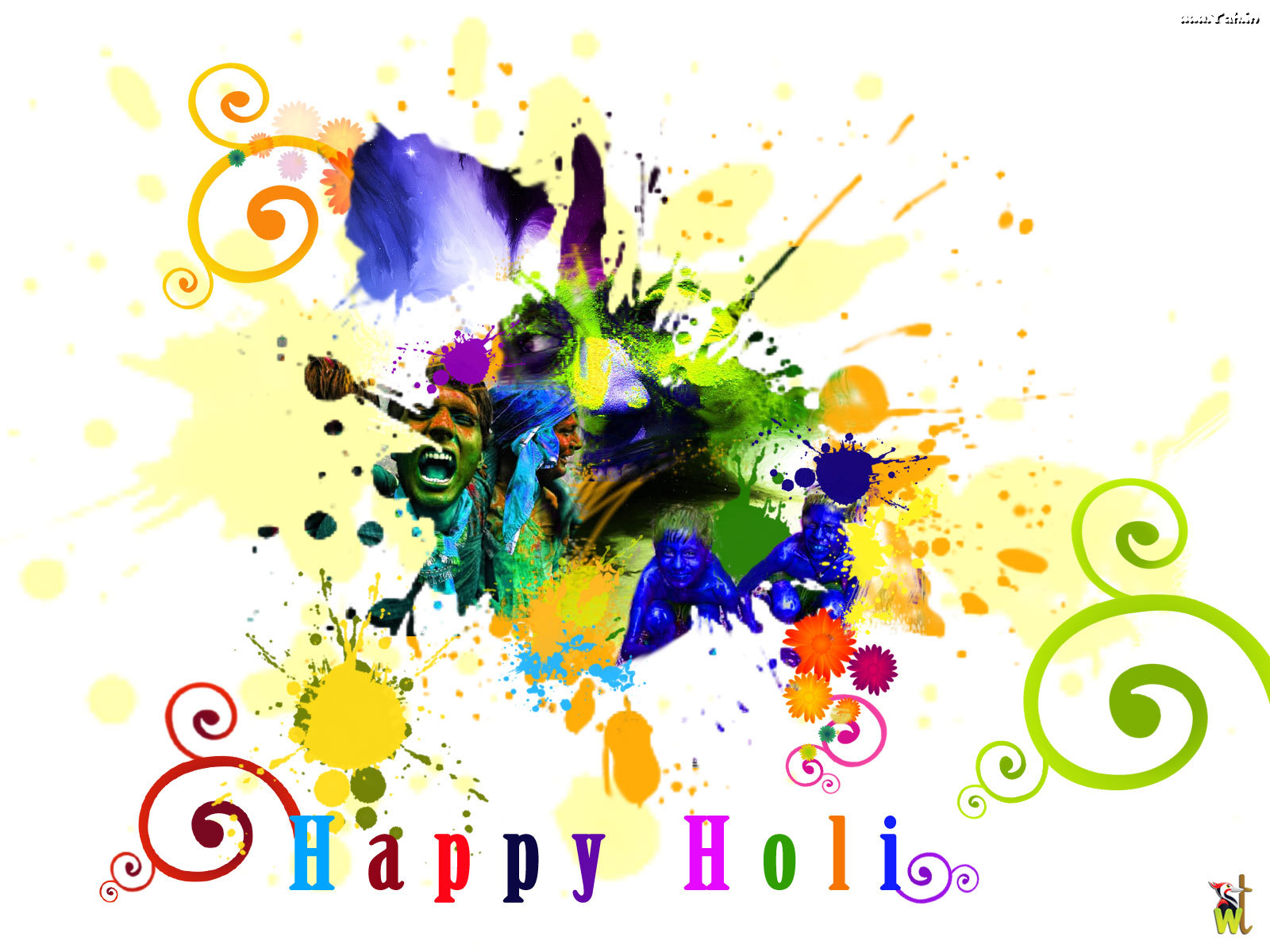 Happy Holi Widescreen HD Wallpaper 1600x1200   Holi Festival 1600x1200