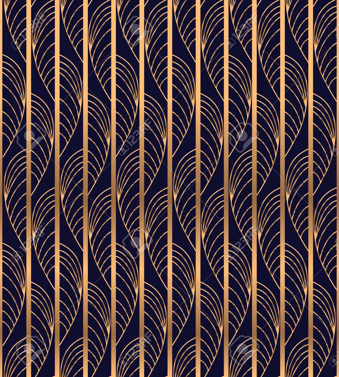 Peacock Feather Luxury Background Vector Gold Waves Pattern 1170x1300