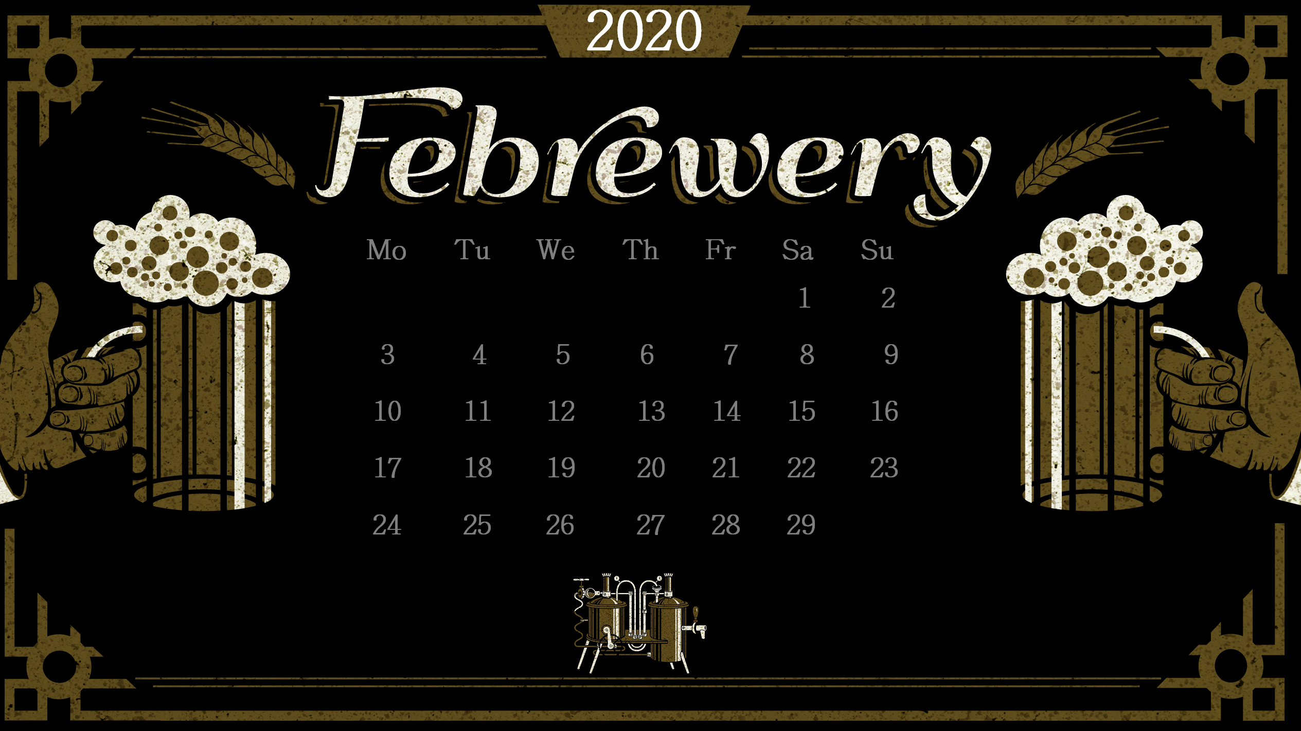 February 2020 Desktop Wallpaper Max Calendars 2529x1421