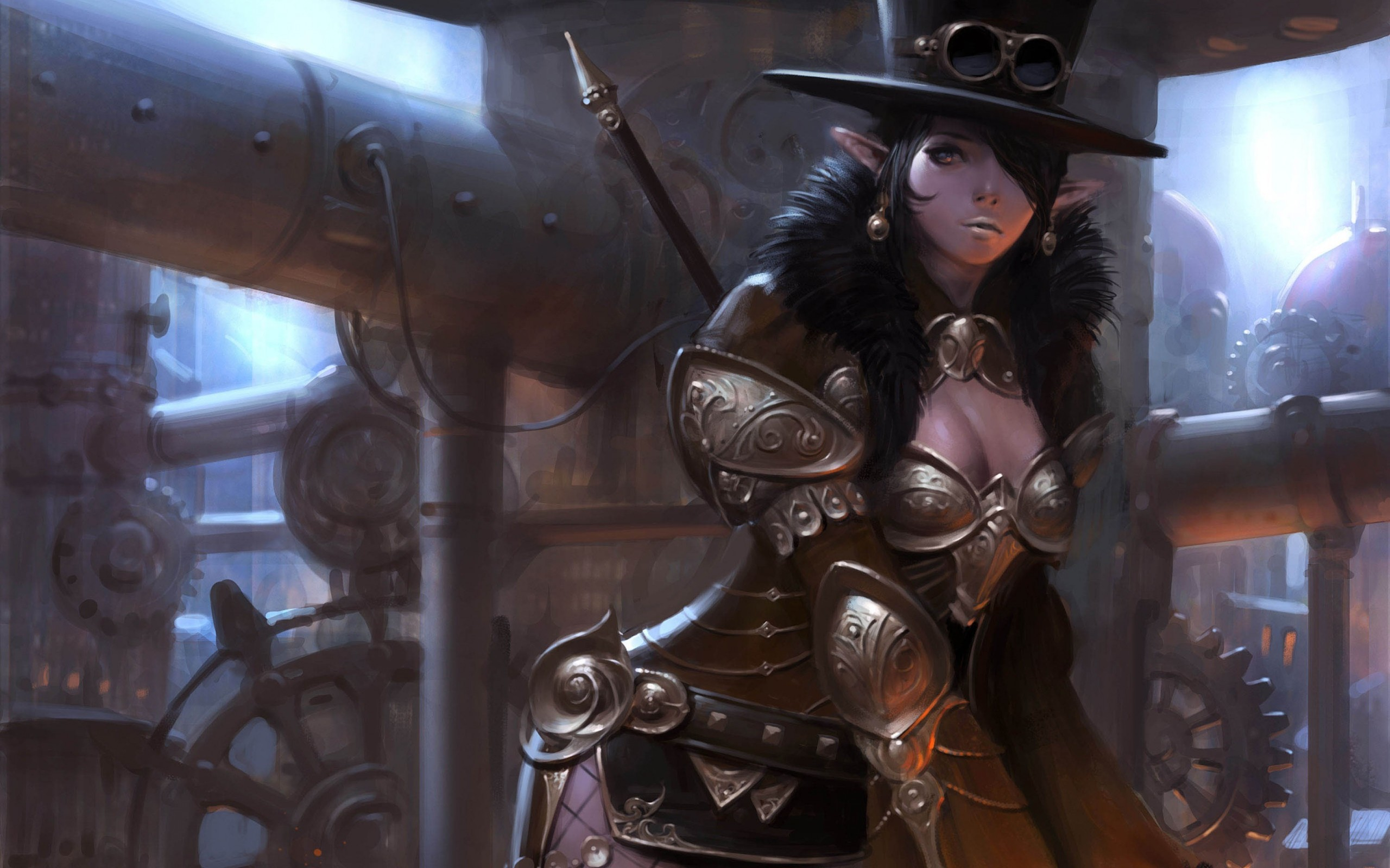 Steampunk Girl Wallpaper Art choi keun hoon girl elf 2560x1600