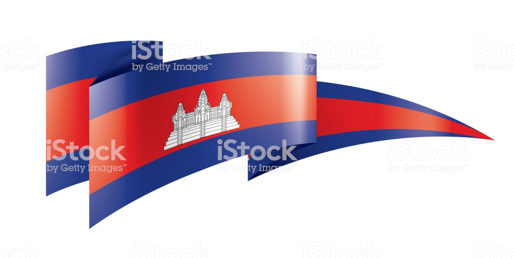 Cambodia Flag Vector Illustration On A White Background Stock 1024x515