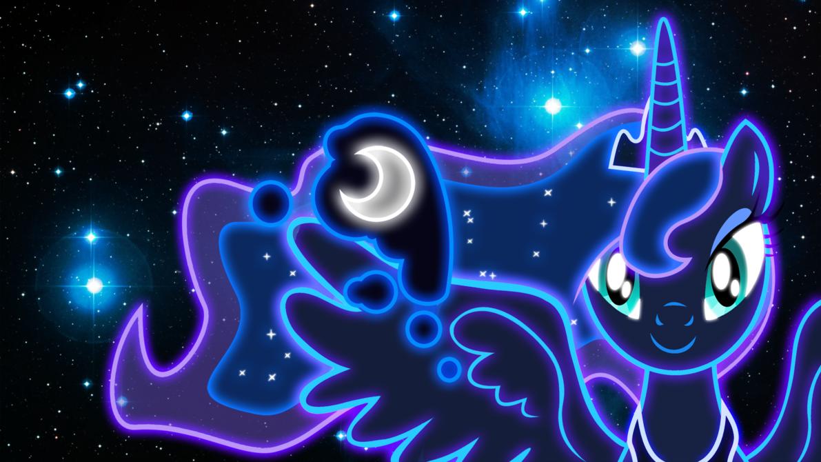 Neon Princess Luna Wallpaper by ZantyARZ 1191x670