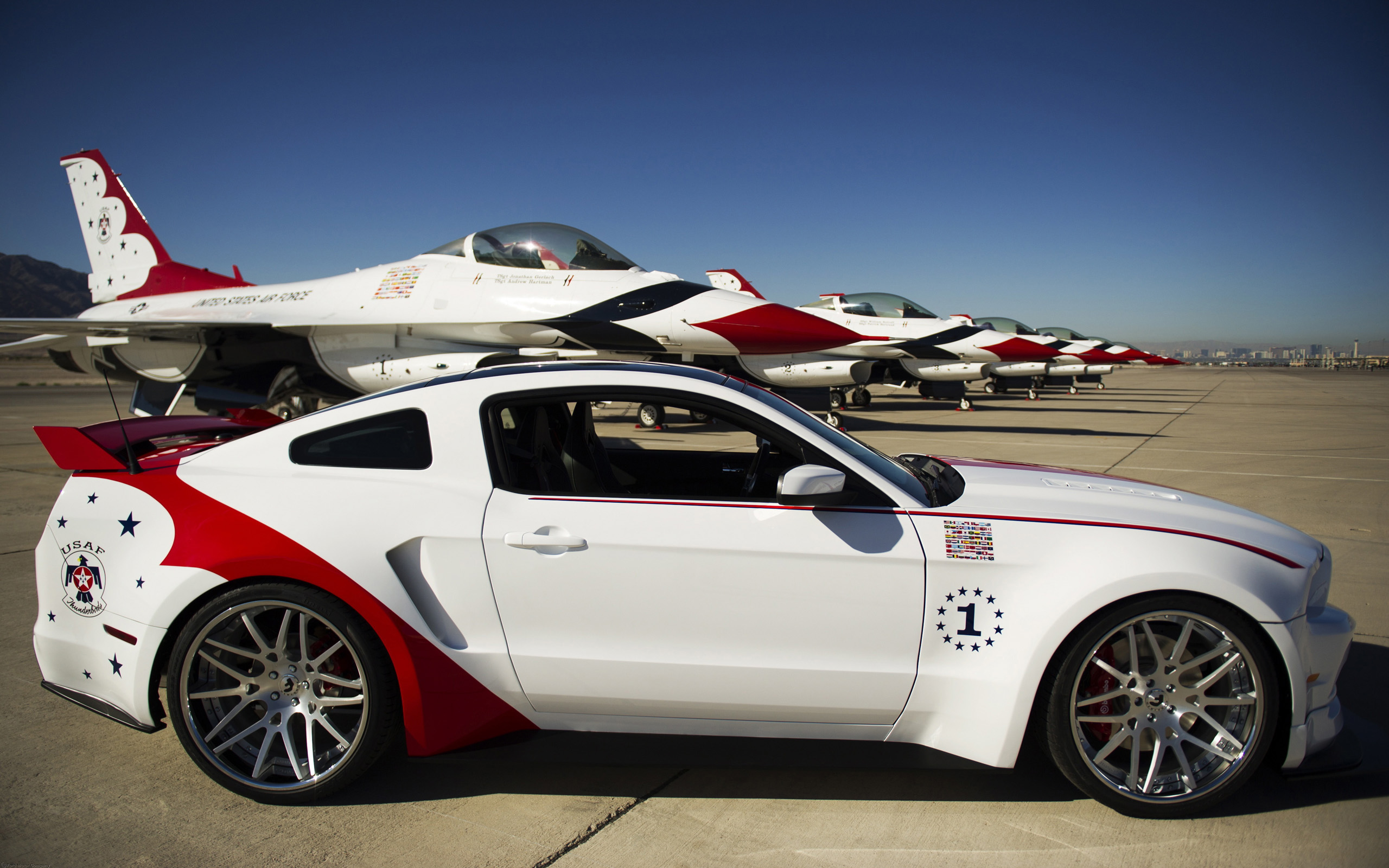mustang fighter ford edition force thunderbirds air wallpaper 2560x1600