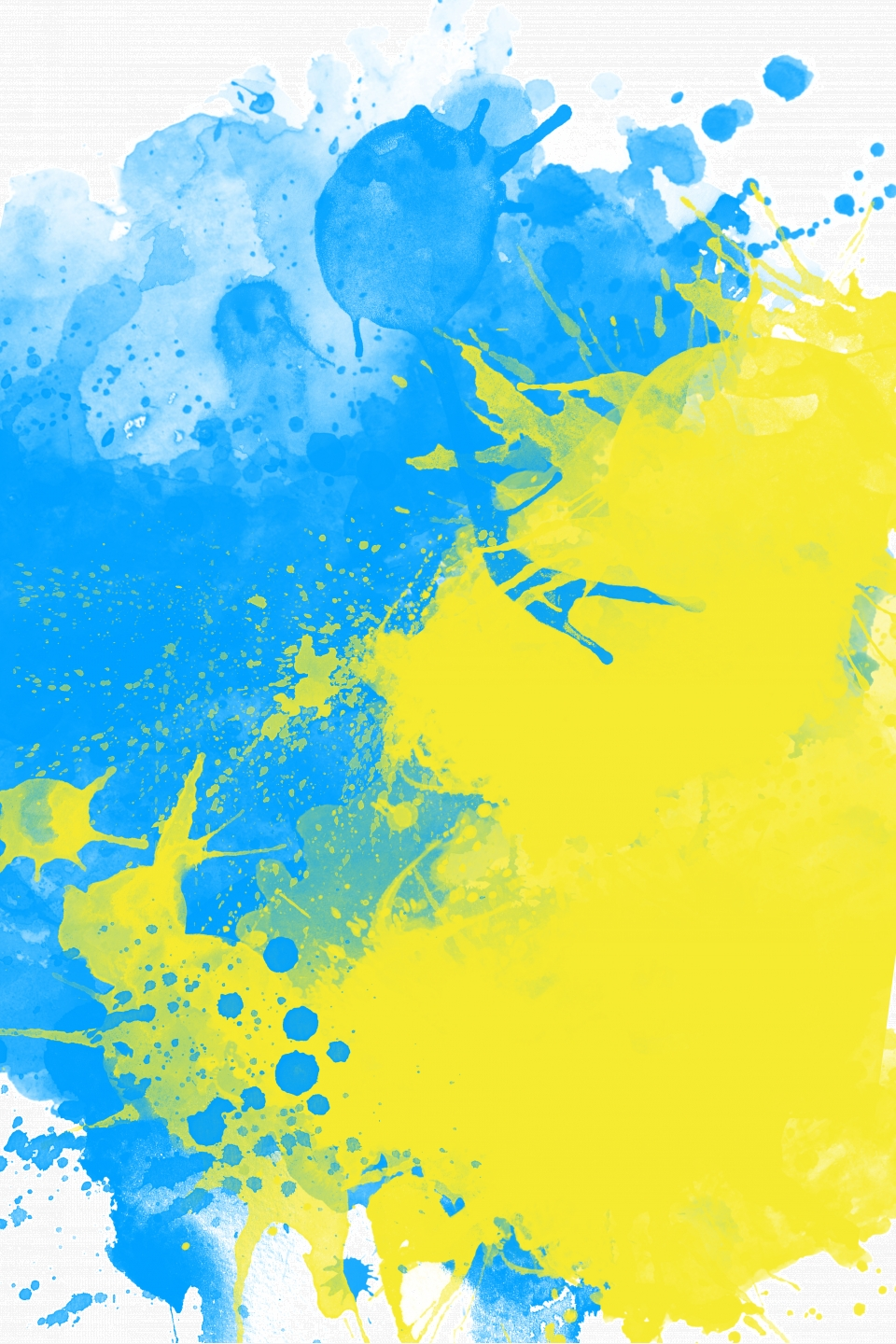 Blue And Yellow Ink Tells The Photographic Background Black Blue 960x1440