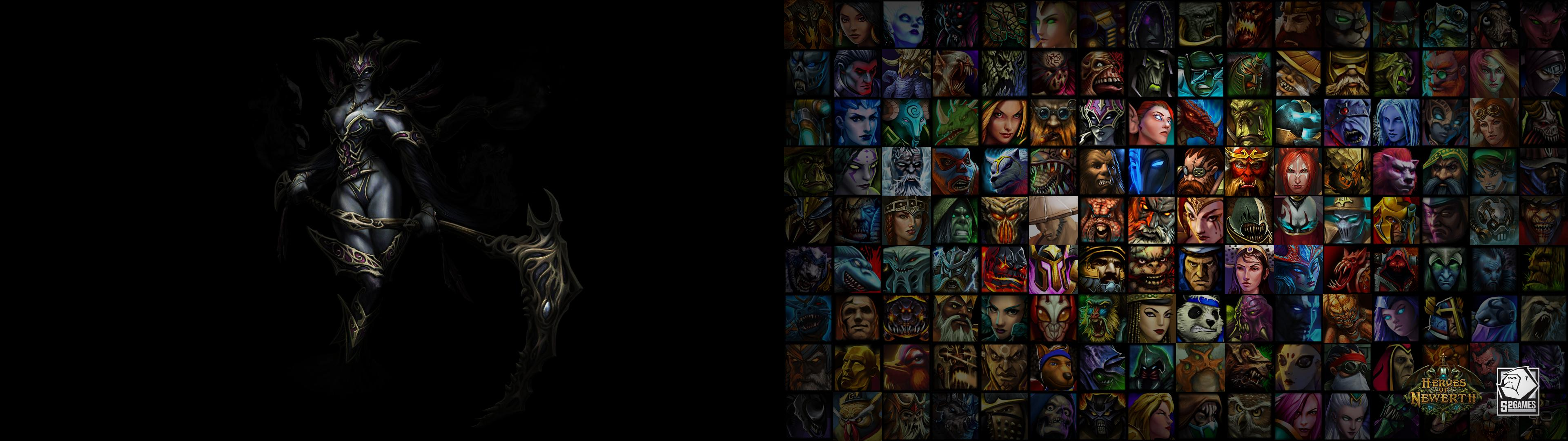Free Download Dual Monitors 3840x1080 Heroes Of Newerth Wallpaper