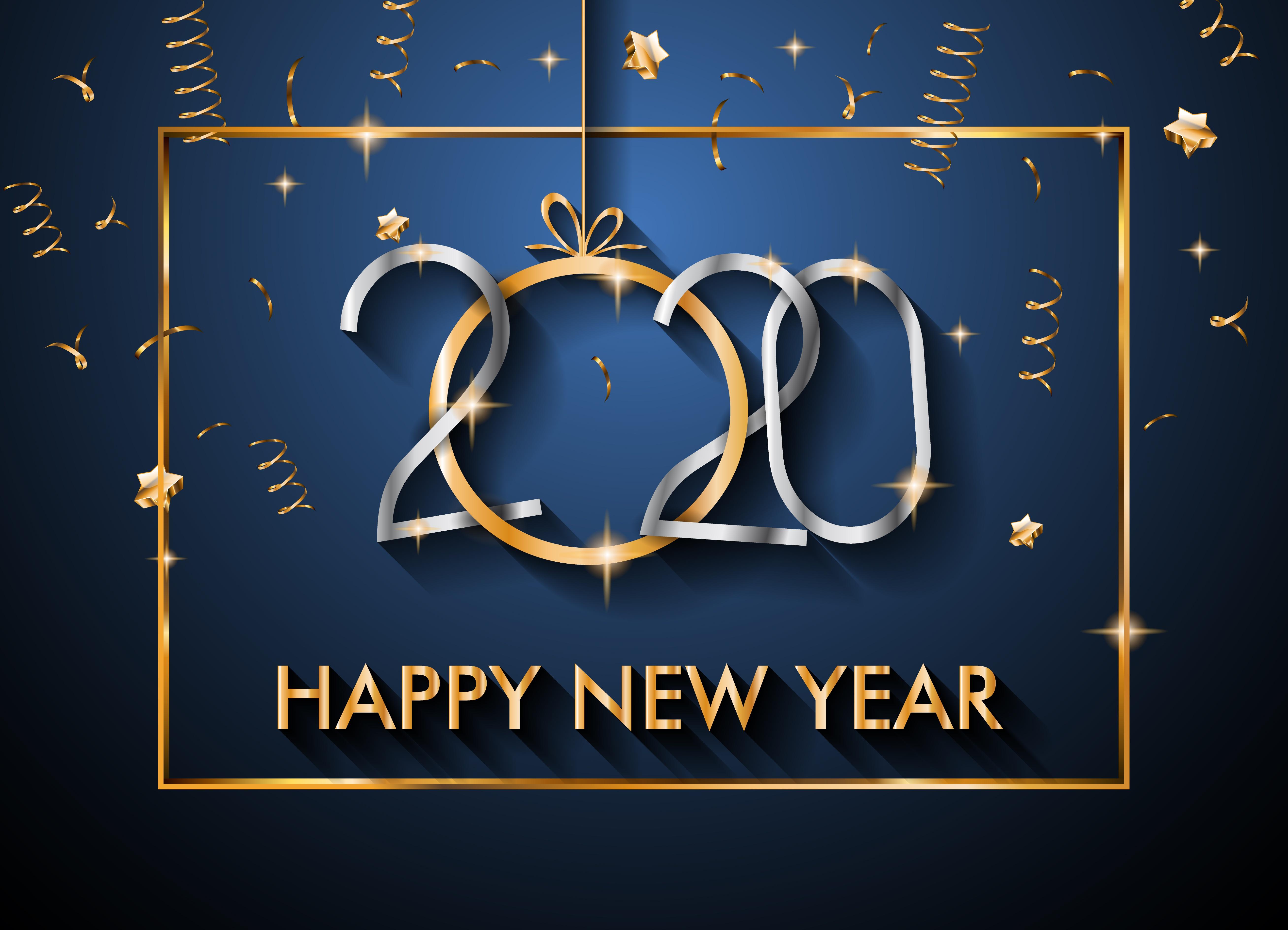 New Year 2020 5k Retina Ultra HD Wallpaper Background Image 5230x3777