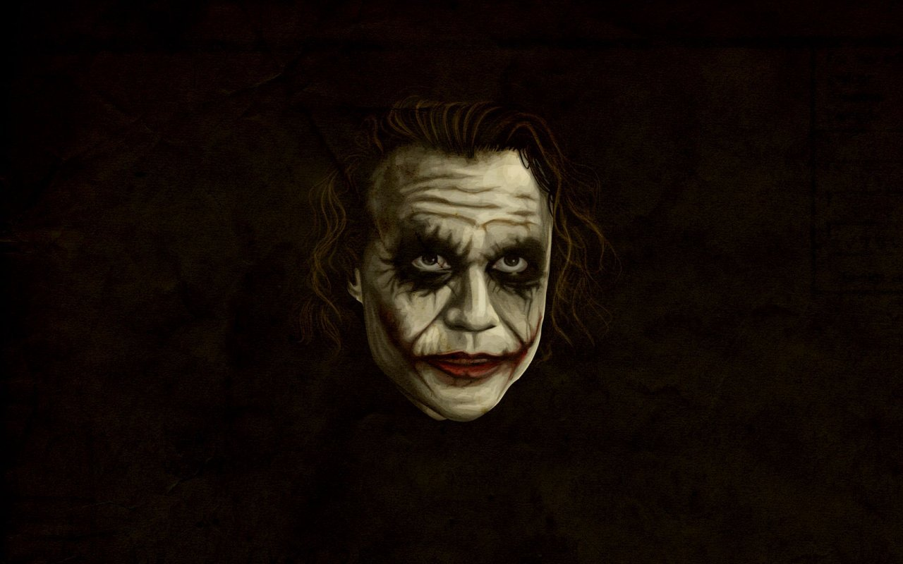 Pics Photos   The Dark Knight Heath Ledger Joker Wallpaper 1280x800