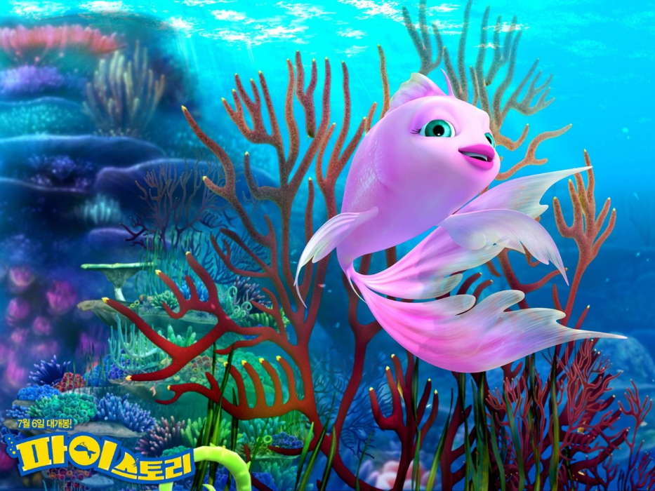 Download mobile wallpaper Cartoon Fishes 12538 933x700