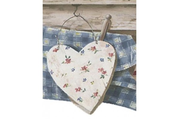 Home Brown Wooden Heart Wallpaper Border 600x400