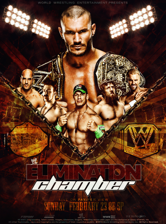 WWE Elimination Chamber 2014 Poster by thetrans4med on 570x770