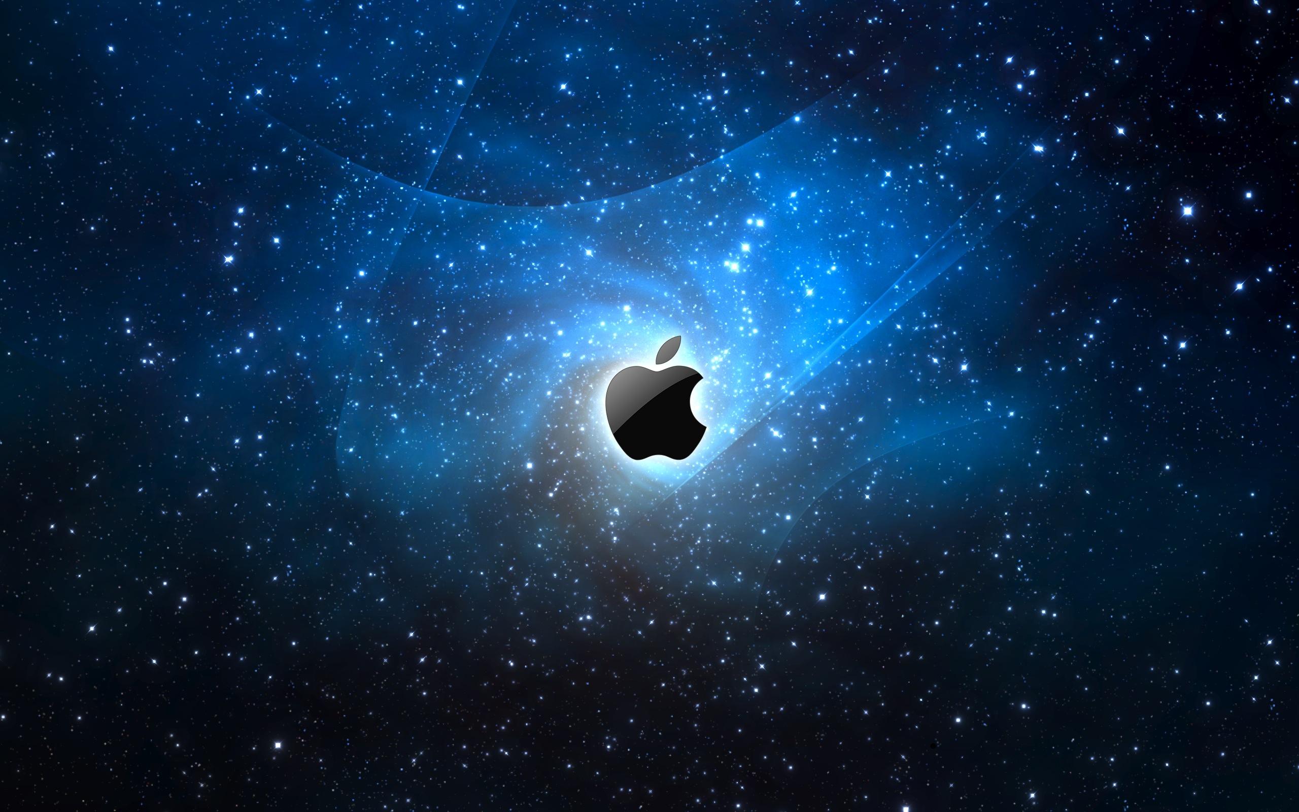 2560x1600 Space Apple logo desktop PC and Mac wallpaper 2560x1600