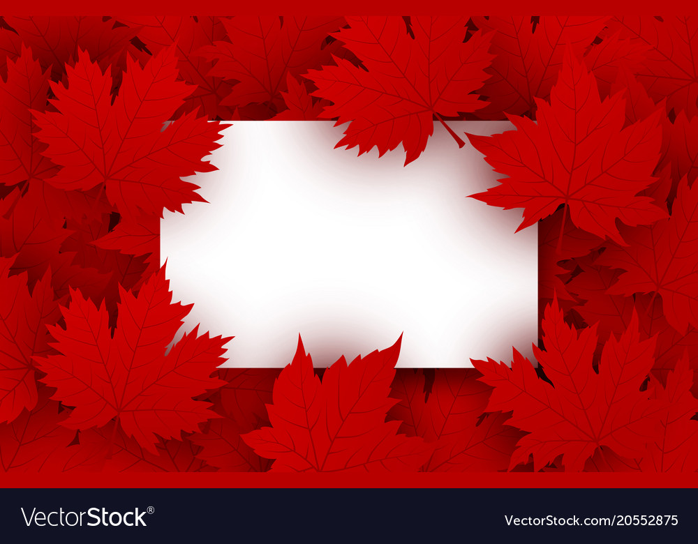 Canada day background design Royalty Vector Image 1000x780