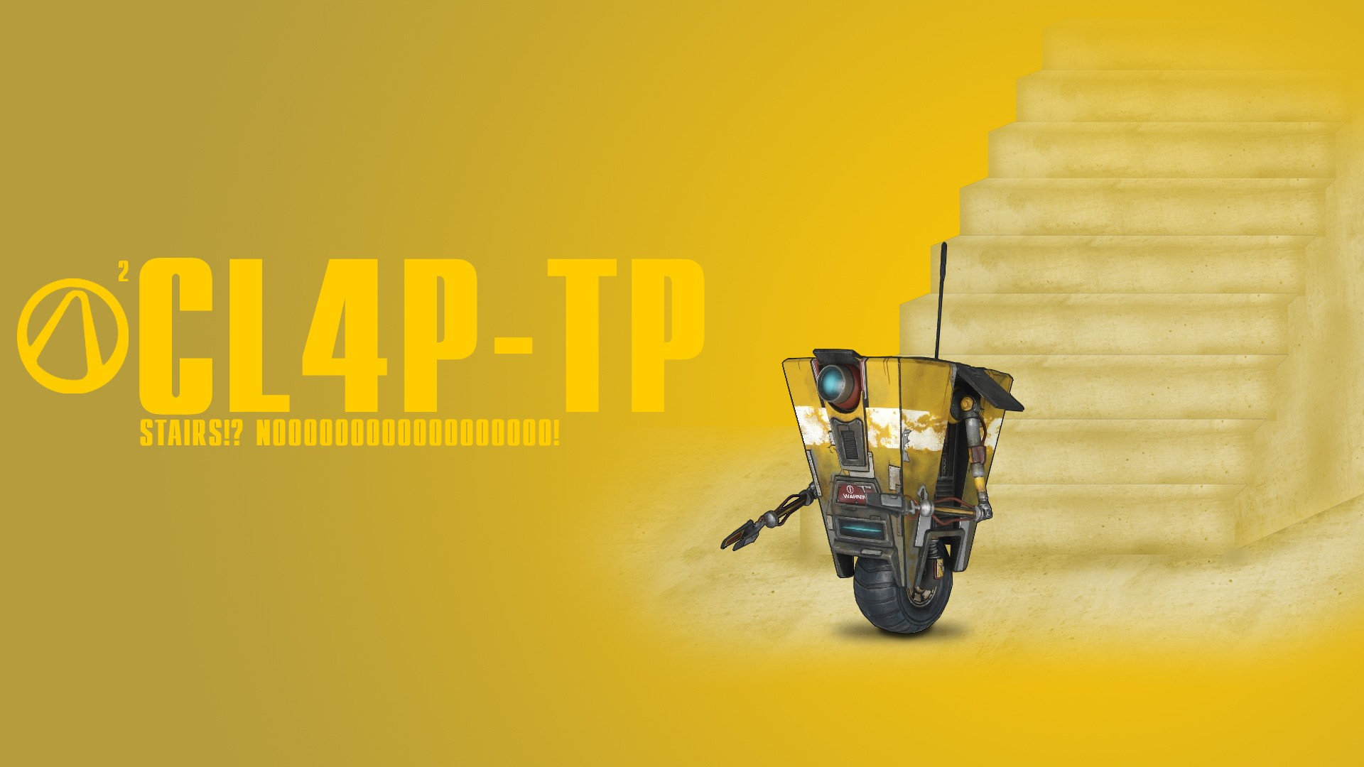Claptrap Wallpaper Illustrazion 1920x1080