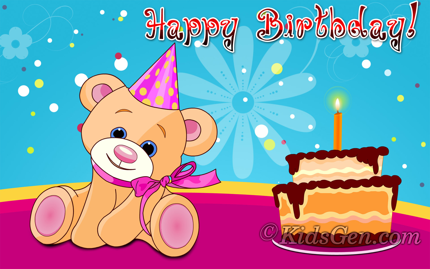 Birthday Wallpapers for kids 1440x900