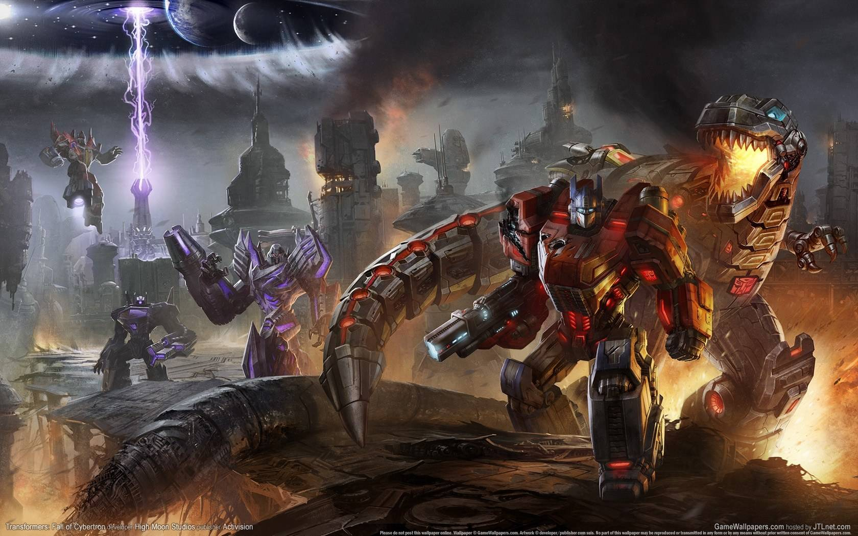 Transformers Fall of Cybertron is due for the PC PS3 and Xbox 360 1680x1050