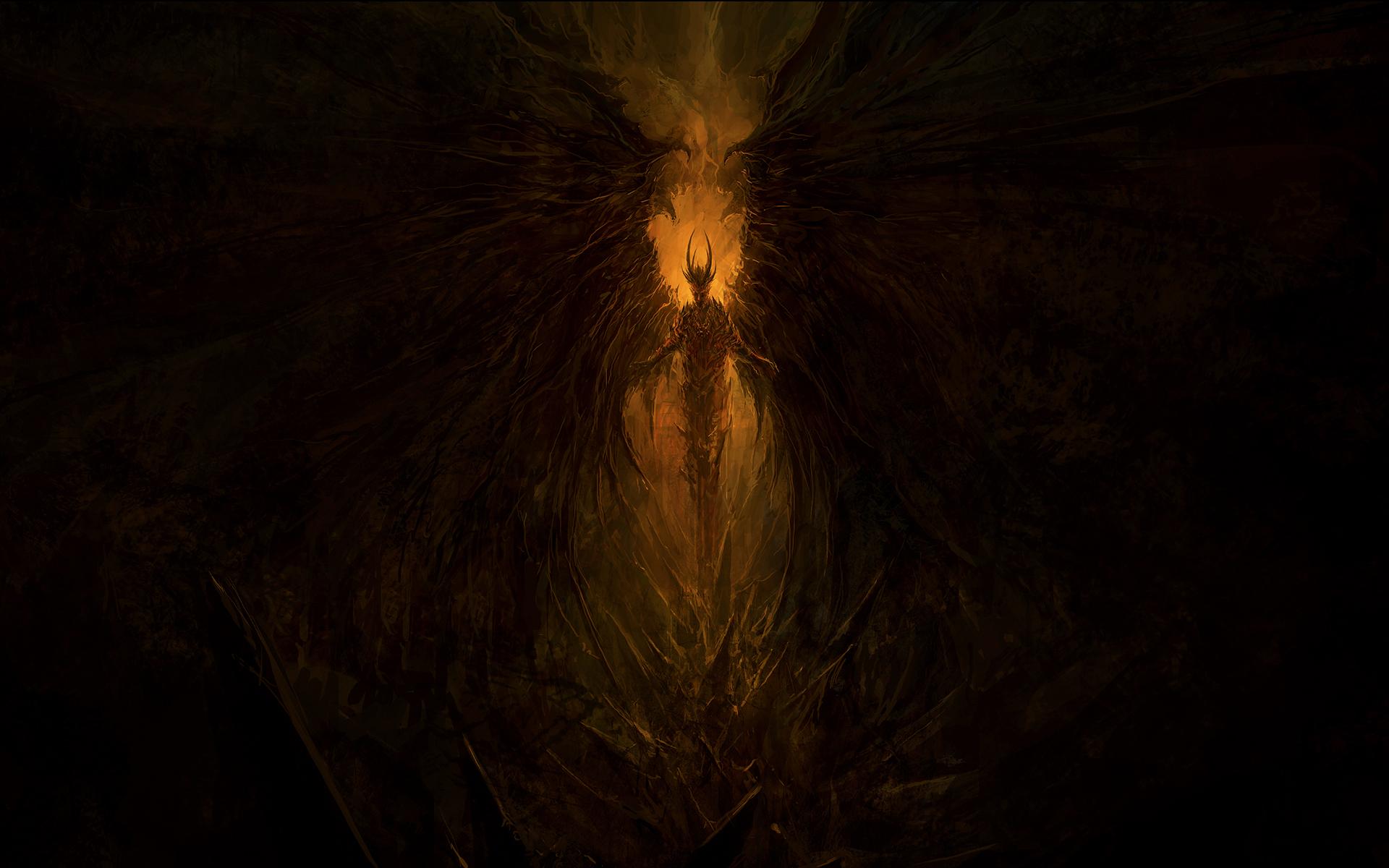 Demon Drawing Creepy Devil occult evil wallpaper 1920x1200 55649 1920x1200