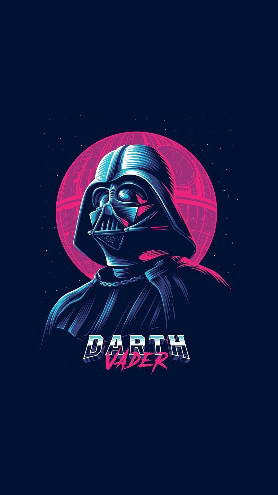 Darth Vader Minimalist Art wallpaper Cool Backgrounds 1080x1920