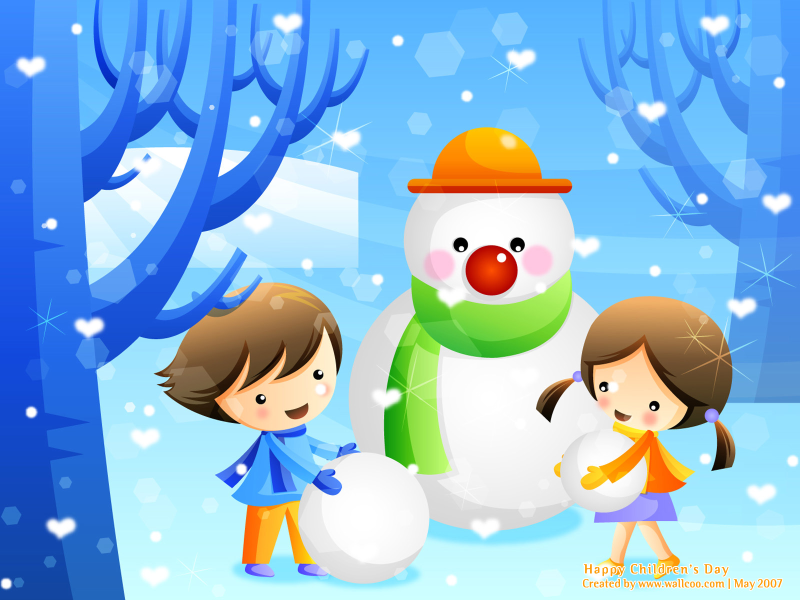 Colourful Illustrations for Childrens Day 16001200 NO12 Wallpaper 1600x1200