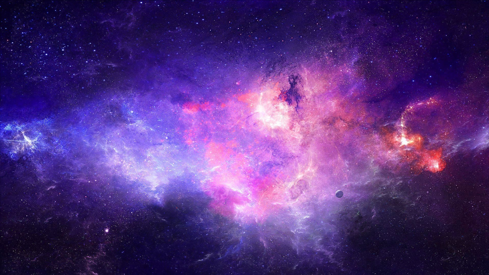28 Space Wallpaper Hd Purple On Wallpapersafari
