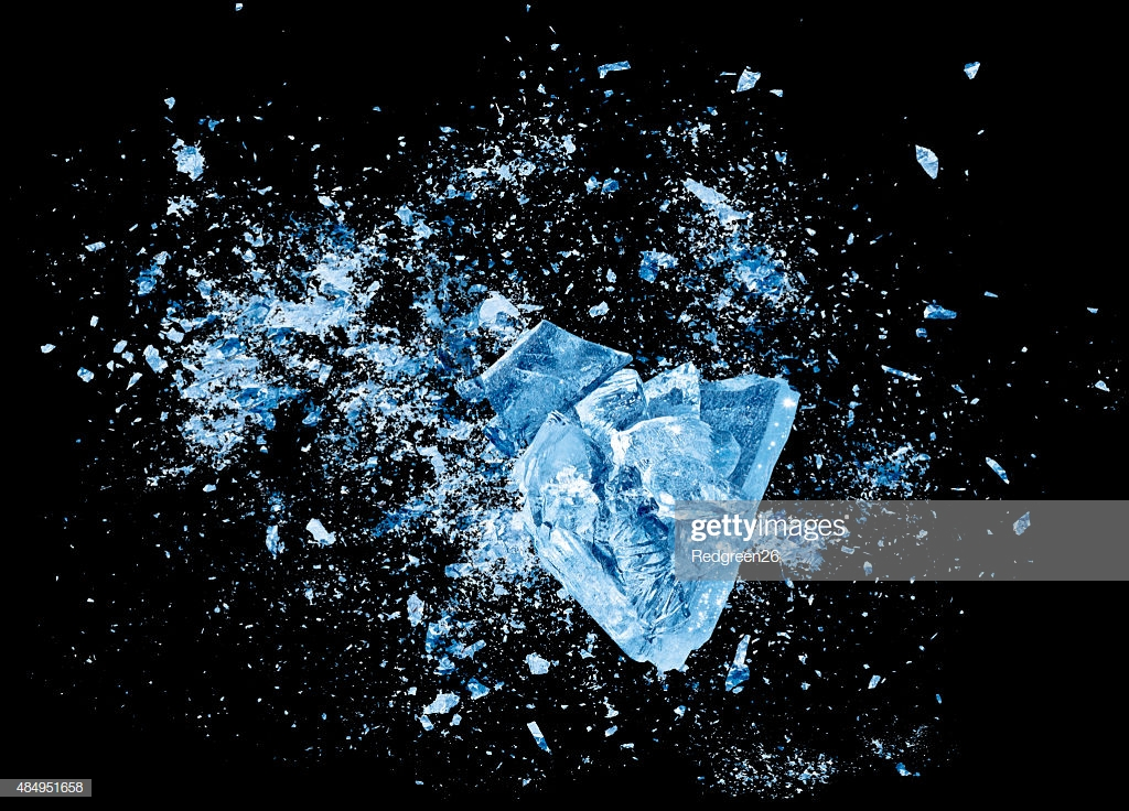 Ice Crash Explosion Parts On Black Background Stock Photo   Getty 1024x736