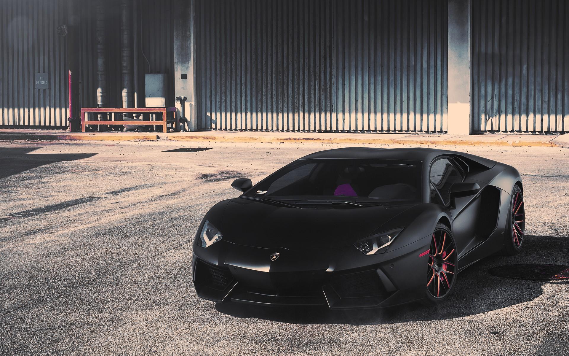 Black Matte Lamborghini Aventador Wallpapers 1920x1200