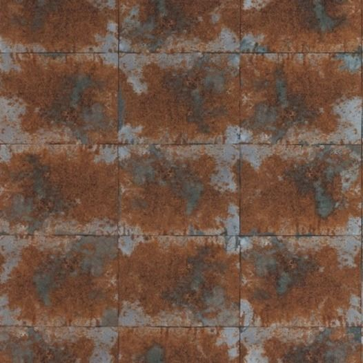 Distressed Copper Tile Wallpaper Traditional Wallpaper for sale in 526x525