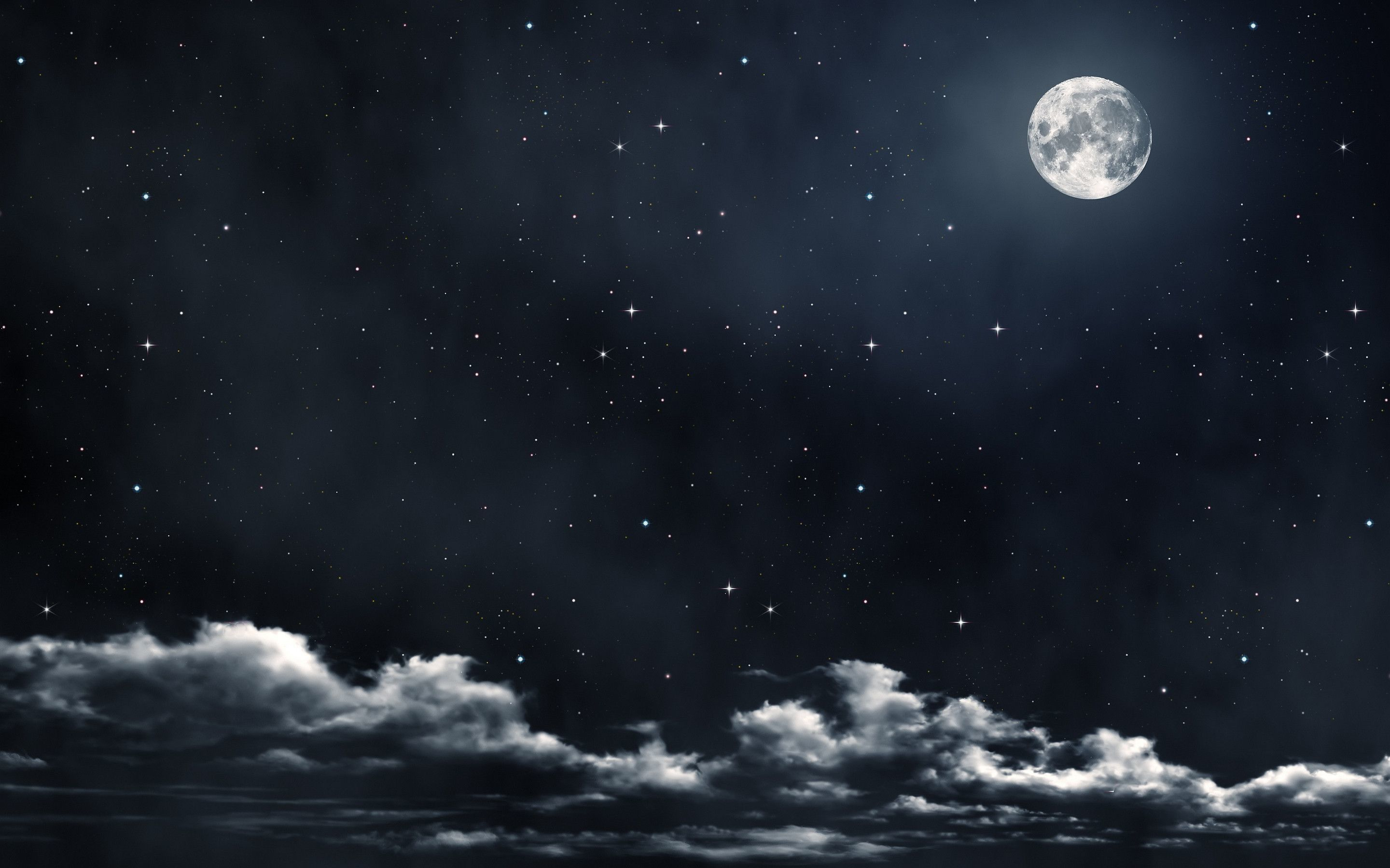 Moon and Stars Wallpapers   Top Moon and Stars Backgrounds 2880x1800