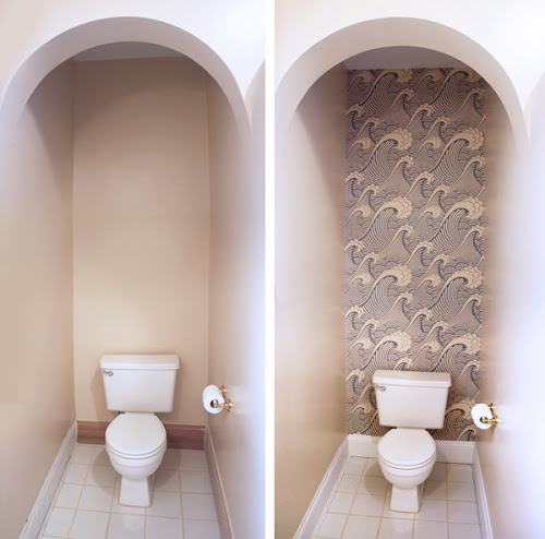 Removable wallpaper in the bathroom How About Orange 500x494