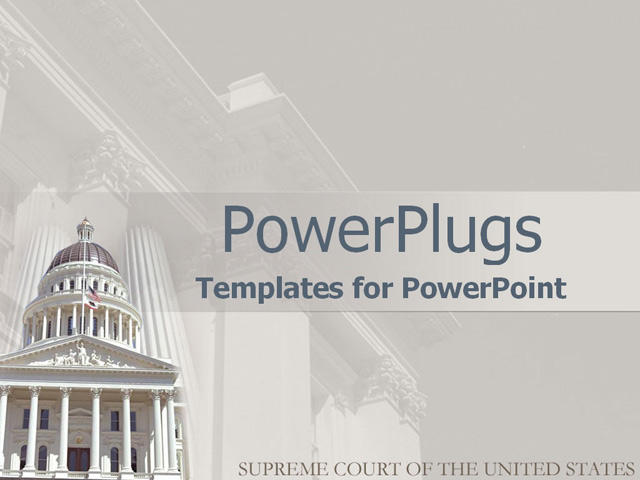 PowerPoint Template Supreme court of the United States in 640x480