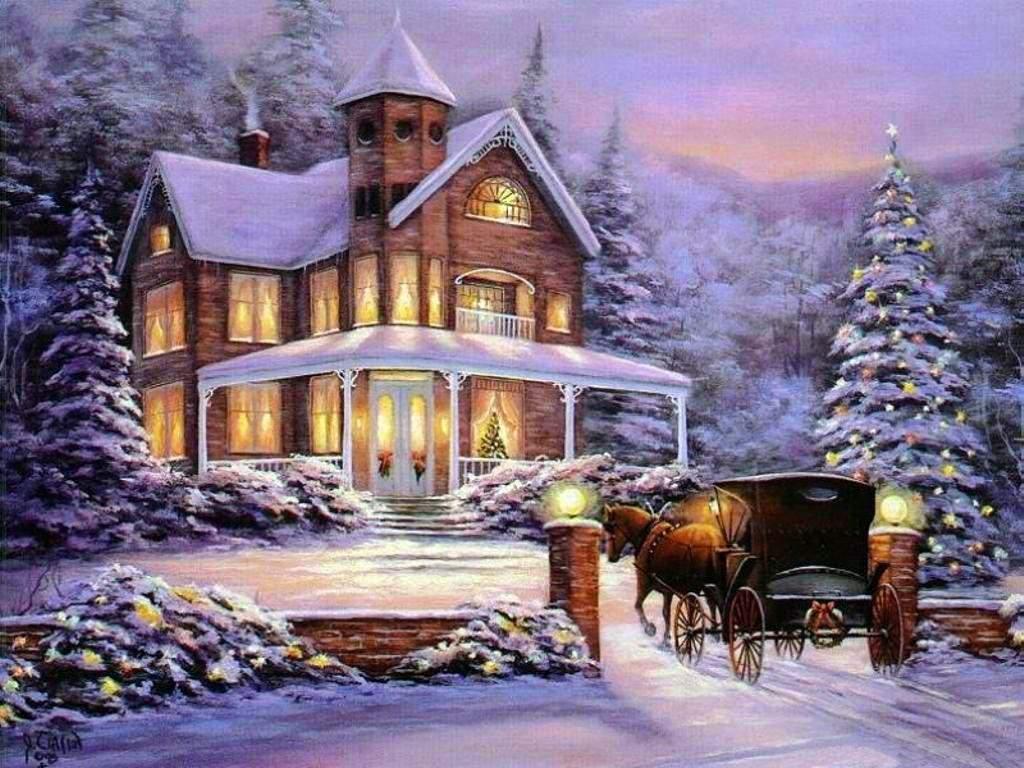 Christmas House Wallpaper - WallpaperSafari