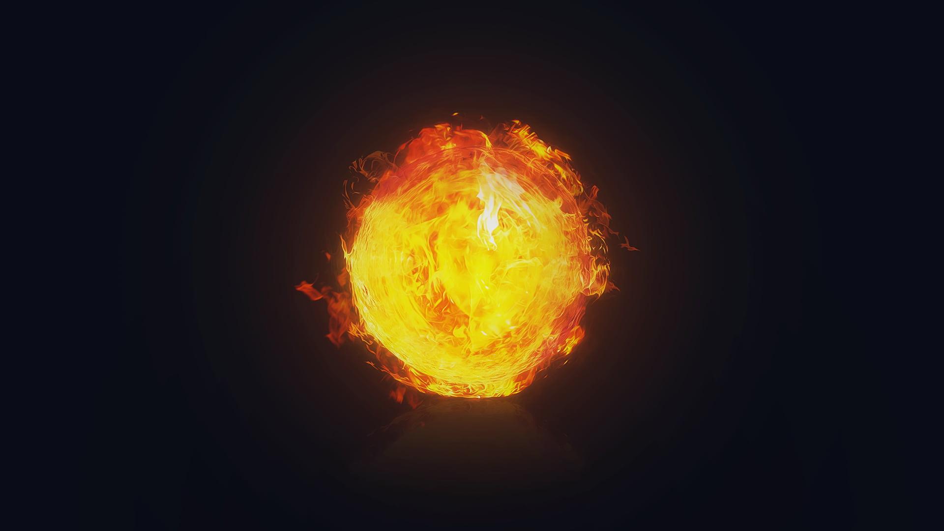 Red flame fireballs The Eye of Sauron Sauron fire HD wallpaper 1920x1080