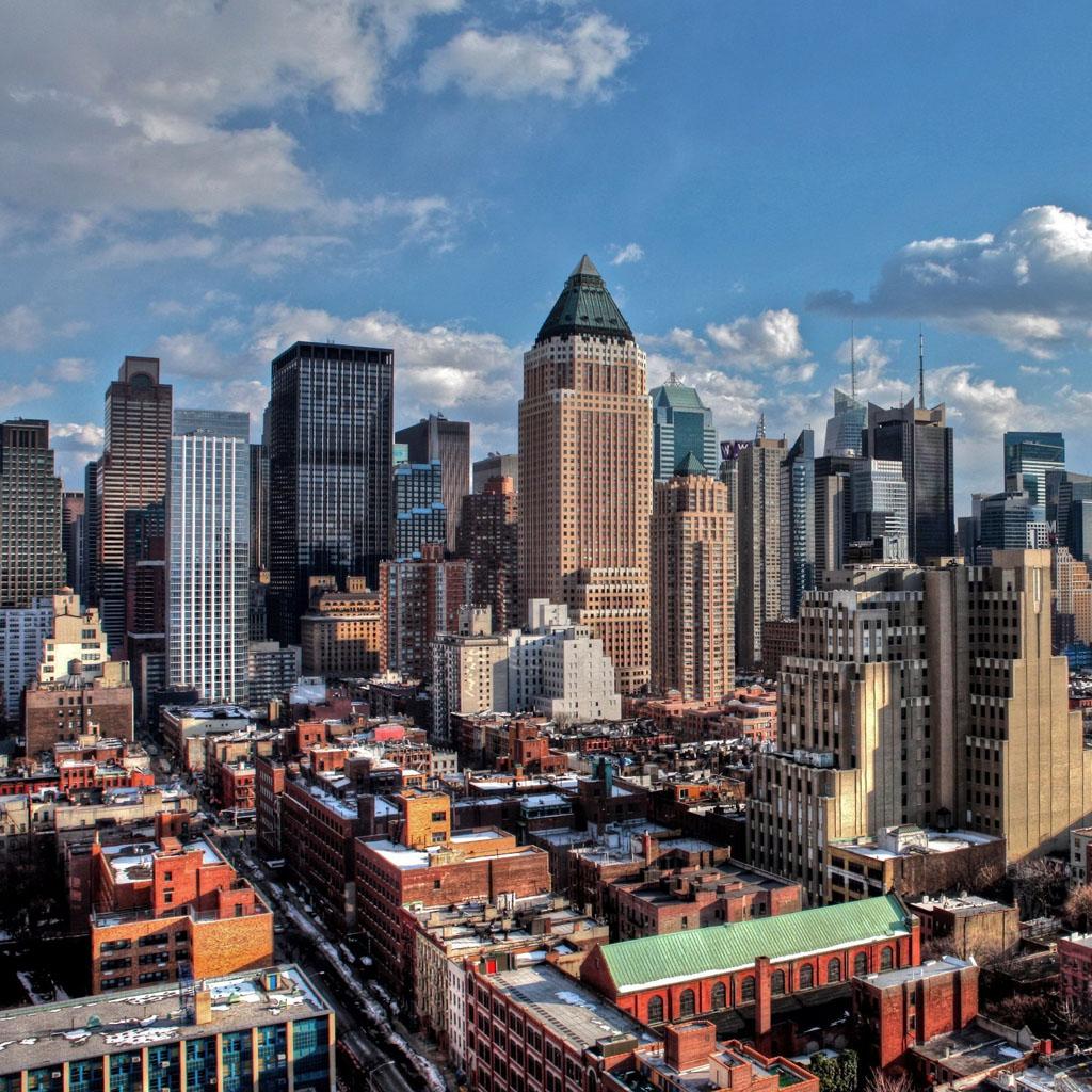 New York city winter iPad Wallpaper Download iPhone Wallpapers iPad 1024x1024