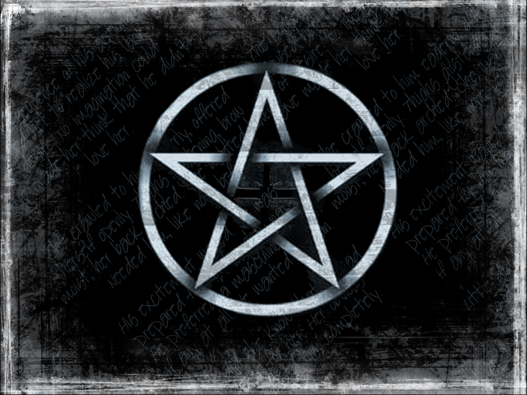 Wiccan Pentacle Backgrounds Grunge pentagram by 1024x768