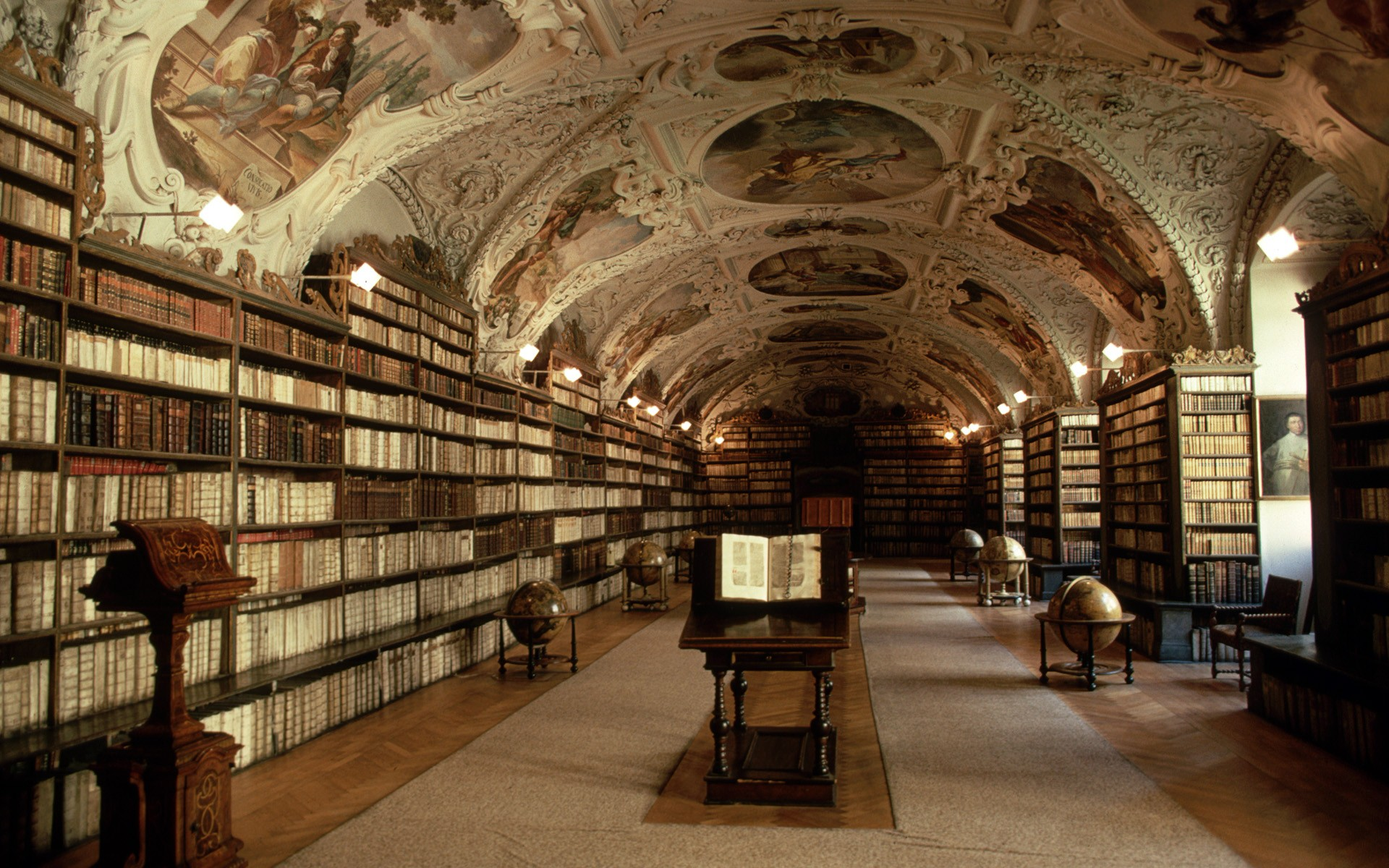 library buildings books bookshelf globe man made wallpaper background 1920x1200