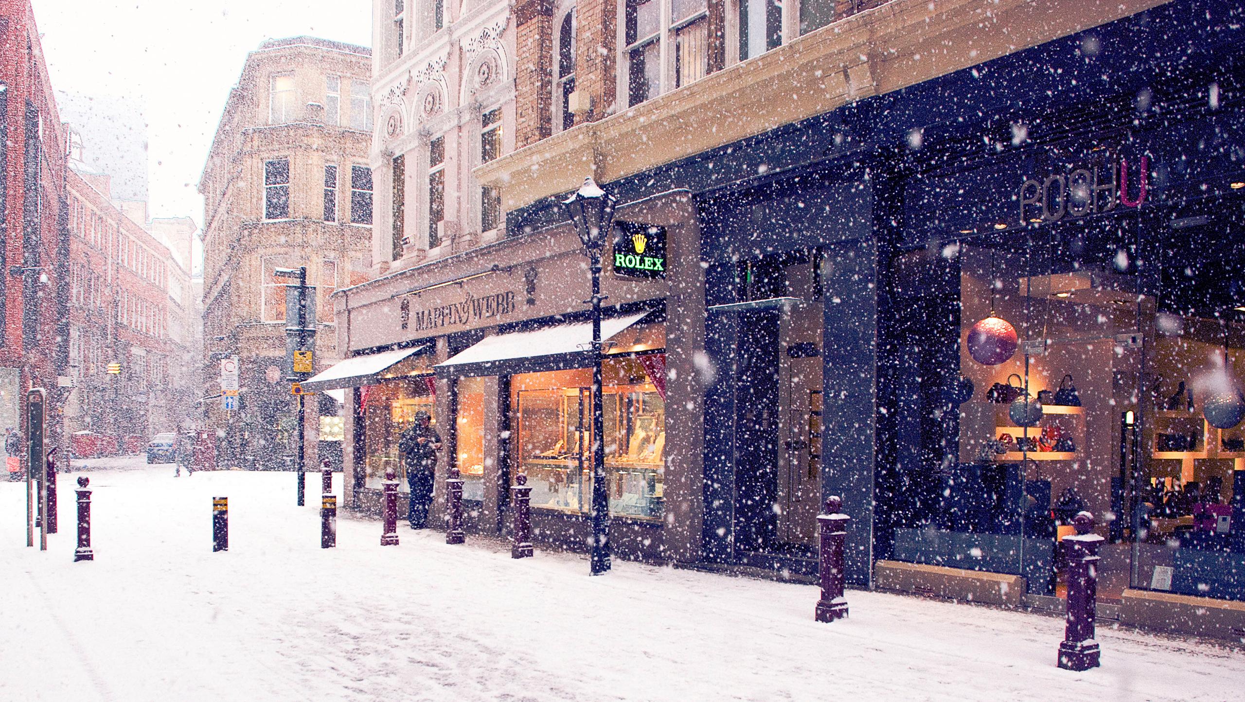 NYC Winter Scenes Wallpaper
