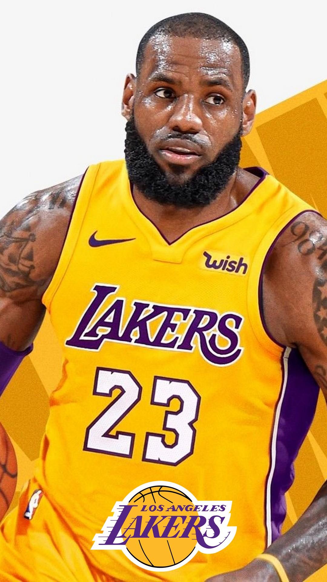 iPhone Wallpaper HD LeBron James Lakers 2020 Basketball Wallpaper 1080x1920