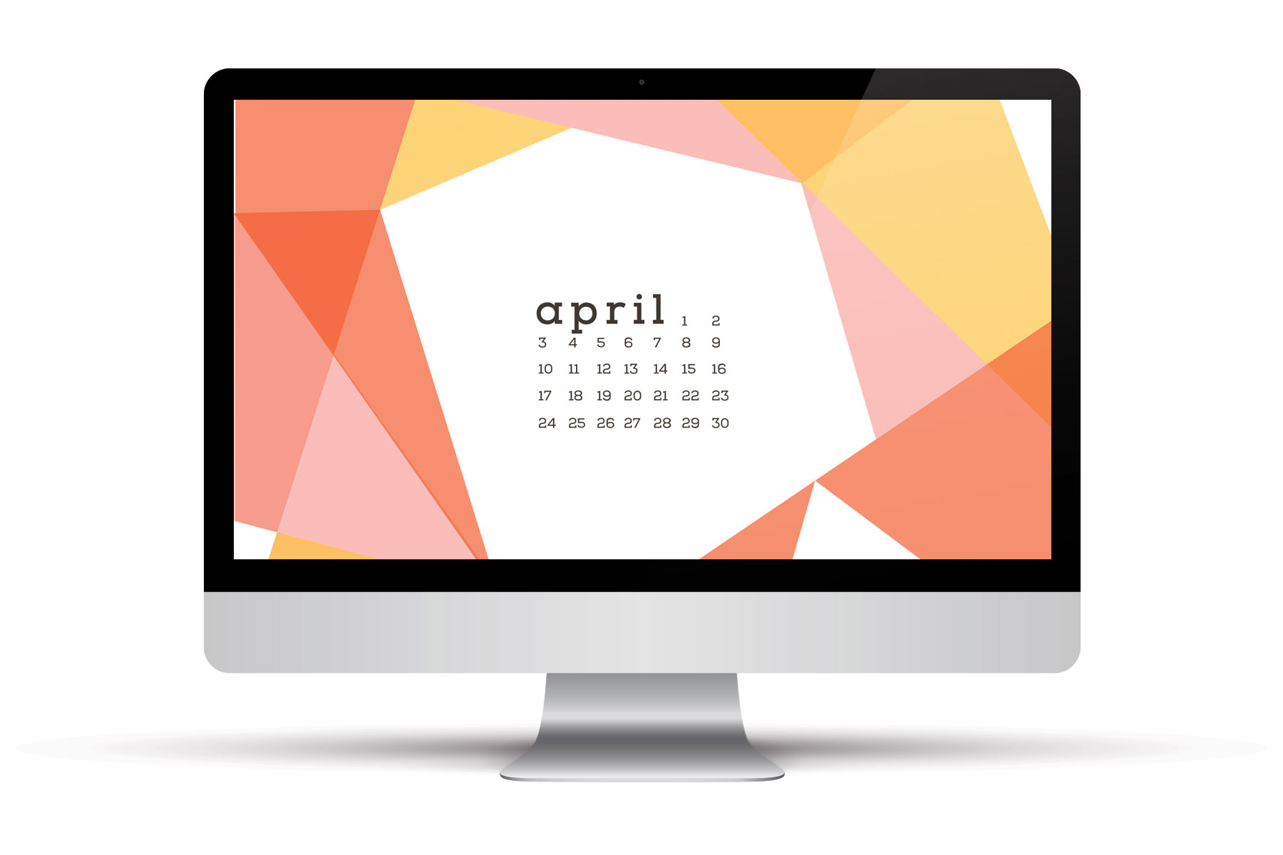 April 2016 Calendars and Wallpaper Red Stamp 1800x1200